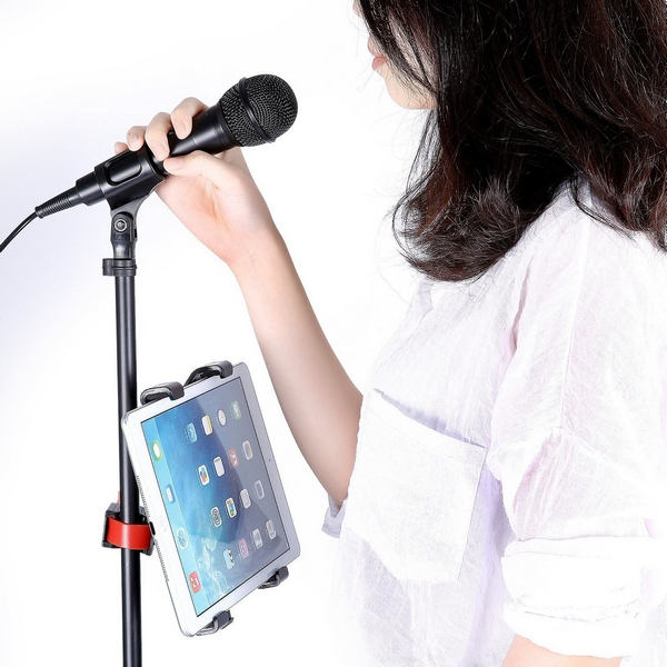 Pied micro avec support Ipad ou tablette