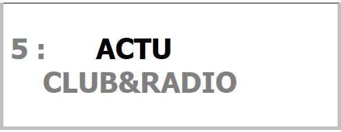 Programme ACTU CLUB&RADIO pour SONO Magique Gold LSEP ANGERS