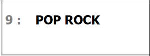 Programme POP ROCK pour SONO Magique Gold LSEP ANGERS