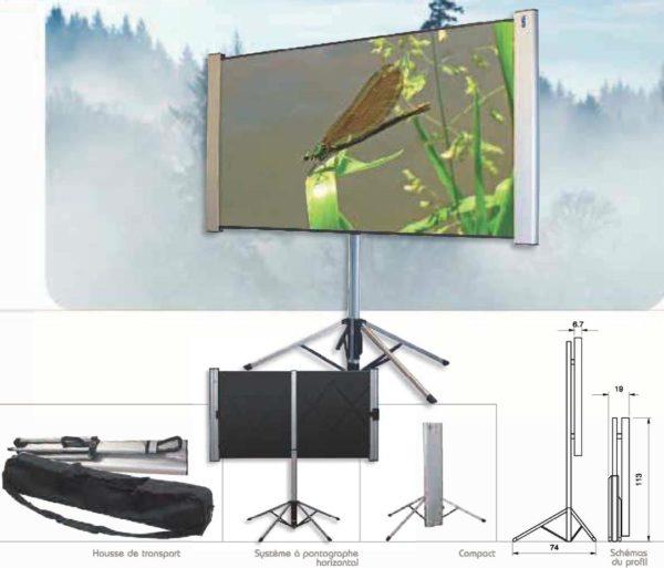 Ecran de Projection Facile a transporter