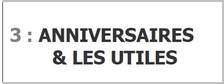 Programme ANNIVERSAIRES & LES UTILES pour SONO Magique Gold LSEP ANGERS